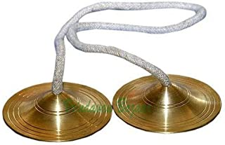 Handmade Brass Cymbals/Kartal/ Manjira/Chimes Bell Metal for Kirtan | Vrindavan Bazaar (5 inch)