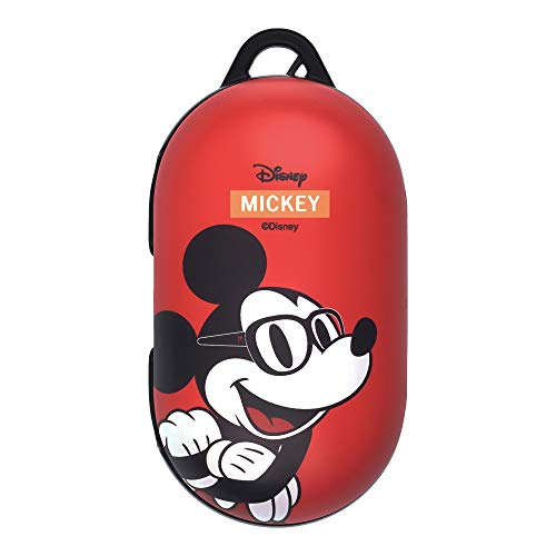 Mickey Mouse Galaxy Buds Case Protective Hard PC Shell Cover Compatible with Galaxy Buds & Galaxy Buds Plus (Buds+) - Glasses Mickey Mouse