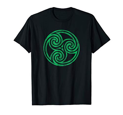 Ireland Green Celtic Knot Irish Vintage Spiral Newgrange T-Shirt