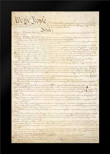 Constitution of The United States, 1787 Framed Art Print by Convention, Constitutional