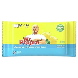 Mr Proper – Salviettine Detergenti Multiuso, Limone – 60 Pezzi