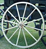 AMISH WARES Decorative - Wood Wagon Wheel - 48 Inch x 2 Inch Steam Bent Hickory Wagon Wheel with wooden hub