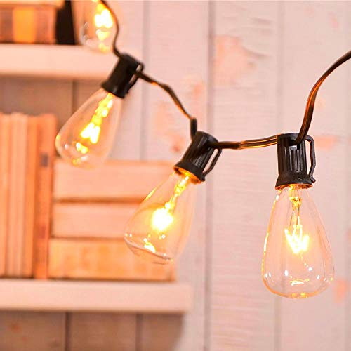 ZHONGXIN 20ft Outdoor Patio String Lights with 21 ST35 Edison Bulbs(1 Extra), UL Listed for Indoor/Outdoor Decor, Perfect for Garden, Backyard, Pergola, Patio, Party, Cafe, Bistro, Wedding …