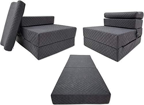 Odolplusz Colchón plegable, colchón de invitados, colchón plegable de 3 piezas, espuma,...