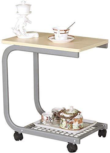 DGHJK Couchtisch Teetisch auf Rollen Kreativer Couchtisch Balkon 2 Farben Optionaler Tisch, B.