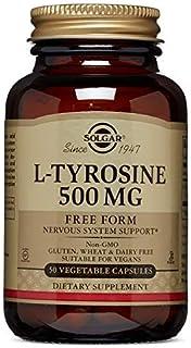 Solgar L-Tirosina Cápsulas vegetales de 500 mg - Envase de 50
