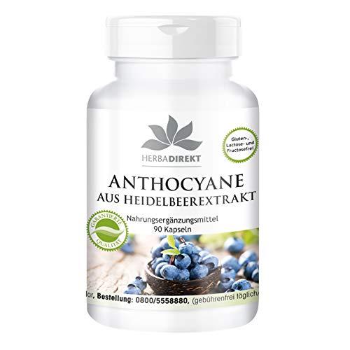 Anthocyane aus Heidelbeerextrakt 25% - 90 Kapseln - vegan