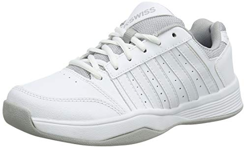 K-Swiss Performance Damen Court Smash Carpet M Tennisschuhe, Weiß (Wht/Wht/High-Rise, 5.5 000070594), 39 EU