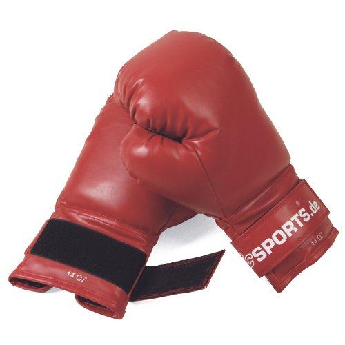 ScSPORTS Boxhandschuhe mit hohem, Training Gloves für Boxen und Kampfsport, Box-Handschuhe 12 oz, rot