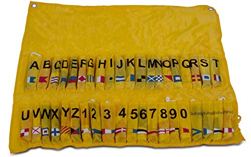 Internationales Signal-Flaggen-Alphabet 40-teilig Nylon mit gelber Tasche Flaggensatz Flaggenset