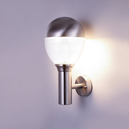 NBHANYUAN Lighting®Buitenverlichting LED-buitenwandlamp Roestvrijstalen wandlamp Armatuur Buiten Weerbestendig 3000K Warmwit 1000LM IP44 9W [Energieklasse A +]