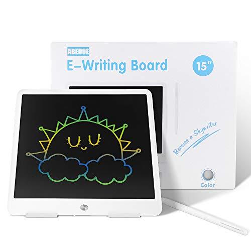 ABEDOE Tableta de Escritura LCD, Tablero de Dibujo electrónico para niños de Tableta 15 Pulgadas, Tablero de Dibujo de luz Colorida, Regalo para niños y Adultos en el hogar, la Escuela y la Oficina