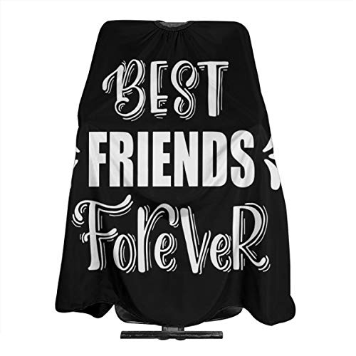 Best Friends forever Home Haircut Apron Cape Hair Salon and Dyeing Styling Cloth for Women/Men