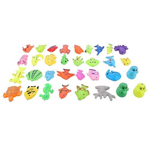 DAUERHAFT Juego de Juguetes de Pesca Atractivo plástico Premium 39pcs / Set, para bebé