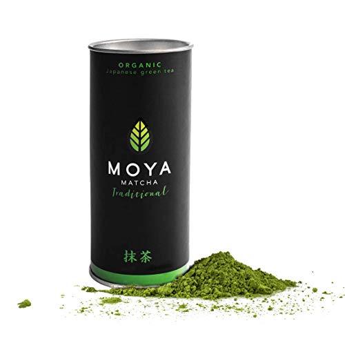 Bio Moya Matcha Tee Pulver Grün | 30g Traditionelle (II) Klasse | Organisch Gewachsen und Geerntet in Uji, Japan | Perfekt für das Trinken mit Wasser Milchkaffee Smoothies und Limonaden