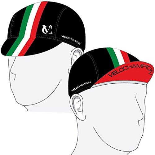 VeloChampion unter Helm Radfahren Cap - Italienische Flagge Design - One Size