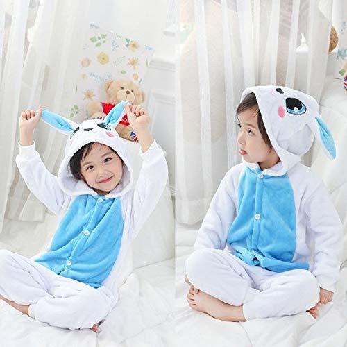 Pijama Unicornio Niños Invierno Mono Unicornio Pijamas Kigurumi Animales de la Jirafa Pijamas Niño Niña Onesies Cosplay Franela Puntada Onesie Ropa de Dormir (Color : H, Size : 10)