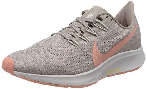 Nike Air Zoom Pegasus 36, Zapatillas de Correr Mujer, Rosa (Pumice/Pink Quartz/Vapste Grey/Celestial Gold 200), 38.5 EU