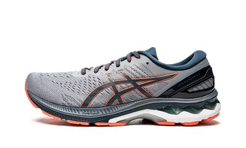 ASICS Men's Gel-Kayano 27 Running Shoes, 10M, Sheet Rock/Magnetic Blue