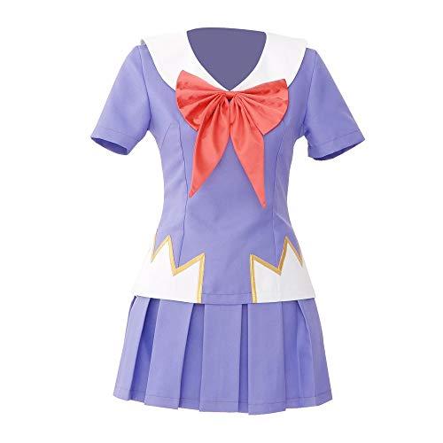 Future Diary Yuno Gasai Purple Summer Dress Sailor Uniform Cosplay Costume (CustomMade)
