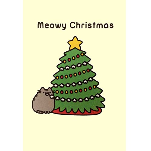 Pusheen the Cat Official Christmas Card (PUSHX4) - Meowy Christmas Tree