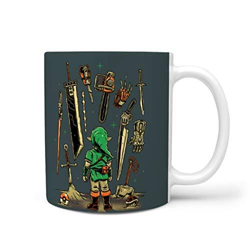 OwlOwlfan Zelda - Taza de cerámica con mango para café, bar, cumpleaños, festival, regalo para mujeres y hombres, color blanco 11 oz