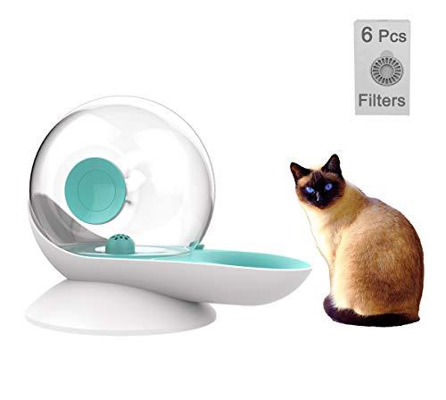 Distributeur d'eau automatique en forme d'escargot pour chat chien fontaine d'eau pour animal domestique,7 filtres de rechange,arroseur de grande capacité pour chat,chien,petits animaux,sans BPA,Vert