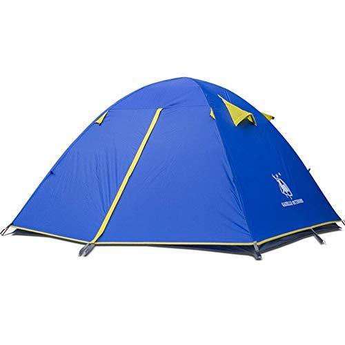 Uitgang Udstyr, Tent, Ultralight 3-4 Persoon Hoge End Druk Lijm Aluminium staaf Tenten Outdoor Wind en Regen Ademend Tent, Kejing Miao Blauw
