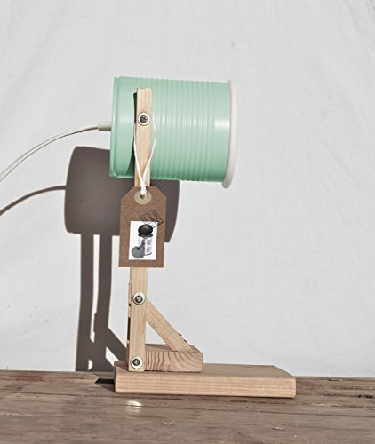 ★ Flexo de mesa mint ★ Reciclada de latas de tomate ! Flexo de estudio, o lampara mesilla de noche, hecha a mano, en color mint / verde pastel / aguamarina .....eco-friendly !