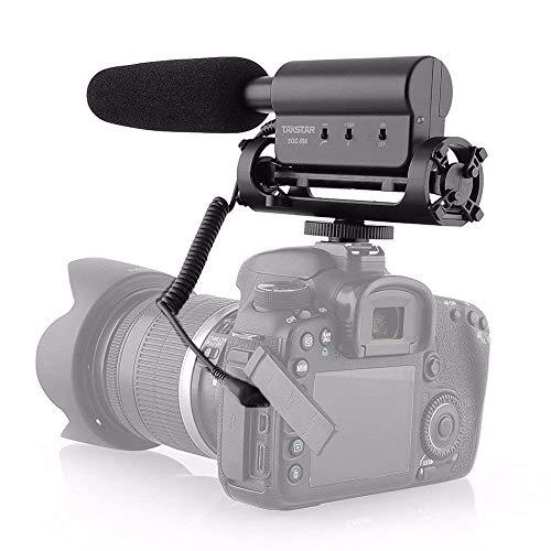 Sutefoto Micrófono de Video, Micrófono de Escopeta DSLR Micrófono de Grabación de Fotografía Compatible para Cámara Nikon/Canon/Videocámara DV (Necesita Interfaz de 3.5 mm)