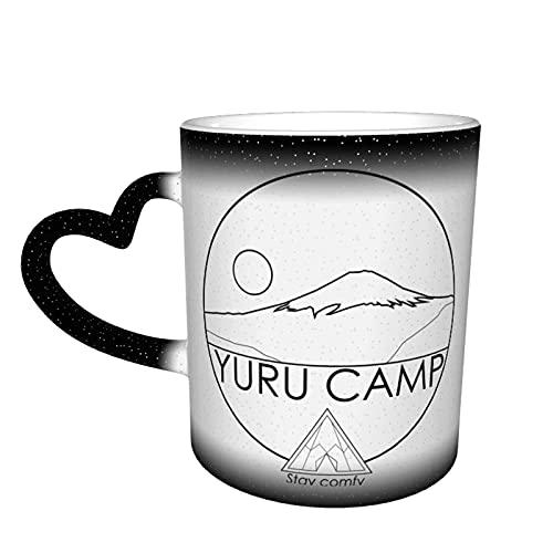 AOOEDM Anime Camp Yuru Camp Taza que cambia de color en la taza del cielo Taza de café