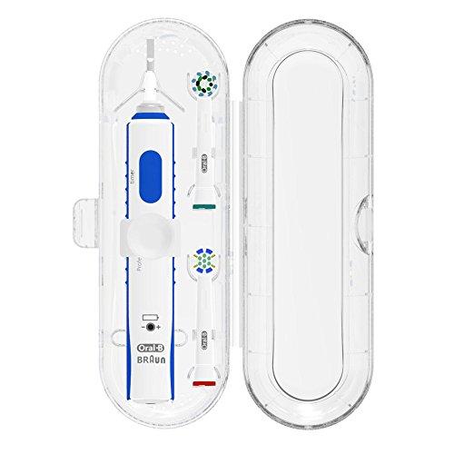 Poketech Reiseetuis für Oral-B 1 Handstück und 2 Aufsteckbürsten Premium - Transparent