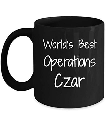 N\A Regalo para el zar de Operaciones - lo Mejor del Mundo - Novedad divertidaidea de Regalo café Taza de té Regalos Divertidos cumpleaños Navidad Aniversario Gracias apreciación Taza Negra
