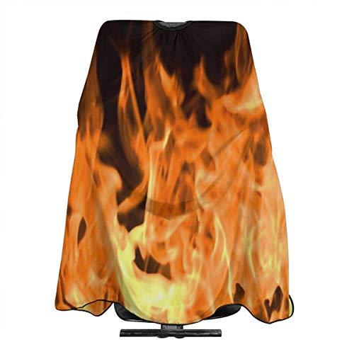 Flammen in einem Kamin vor einem schwarzen Hintergrund Salon Kap wasser- und schmutzabweisende Schürze mit einstellbarem Schnappverschluss für Friseure, Friseure und Friseure für Erwachsene/Fra