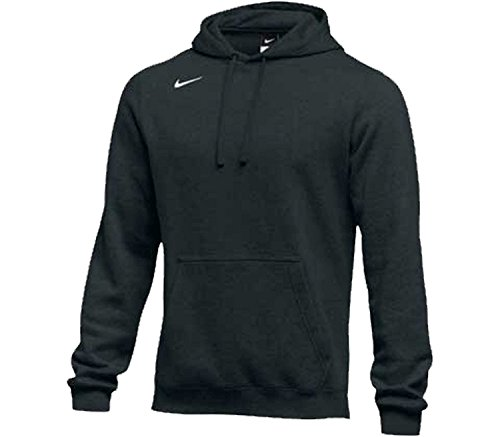 Nike Men's Club Fleece Hoodie (Large, Black/White)