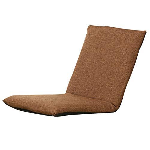 YANYDO Fauteuil de Sol Ajustable Canapé Pliant Sofa à Six Positions Multiangle Homme Paresseux Fauteuil inclinable inclinable Doux L80 × W40 × H6cm (Couleur : Brown)