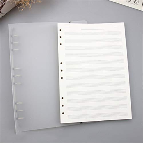 B5 MúSica Hoja Papel Cuaderno Personal Manuscrito Para Hombres Y Mujeres NiñOs MúSicos Y Maestros Cubierta Transparente 28 * 21.5 * 3 Cm