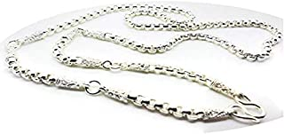 5 Hoops Buddha Amulet Chain THAI BAHT WHITE GOLD GP NECKLACE 26 Inch Jewelry