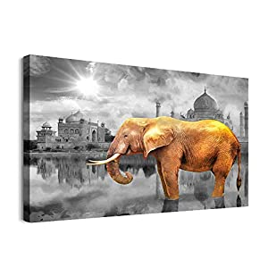 Canvas Wall Art For Bedroom Family Wall Decor For Bathroom Elephant Wall Pictures Artwork Office Canvas Art Black And White Wall Painting Modern Fashion Living Room Kitchen Home Decorations 12x16 Inch