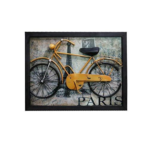 Skulptur Statue Vintage Innenraum Innendekoration Kreative Bar Cafe Schmiedeeisen Fahrrad Anhänger Wandbild