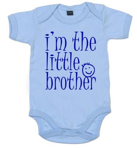 IiE, I'M THE LITTLE BROTHER, bébé garçon, Body Bleu Bleu pastel 0-3 mois