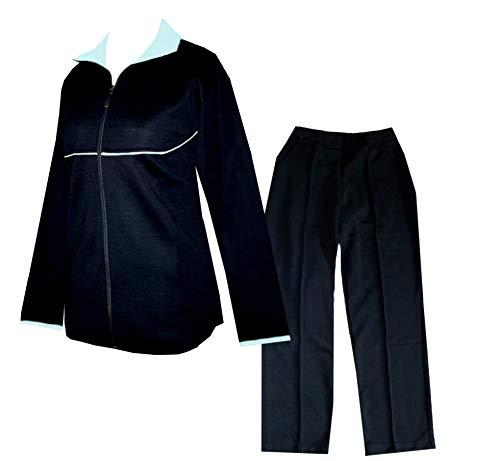 Schneider Sportswear Senioren Damen Trainingsanzug, Hausanzug (40, schwarz/hellblau)