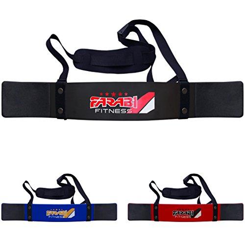 Farabi Arm Blaster Bicep isolater Bar Tricep Curl Bomber Fitness Gym Training by Farabi (Black)