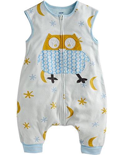 Vaenait Baby Gigoteuse Unisexe pour Enfant 1-7 Ans 100% Coton avec Jambes et Pieds - Multicolore - L
