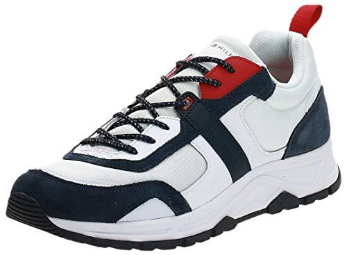 Tommy Hilfiger FASHION MIX SNEAKER Sneaker Herren, Weiß (White Ybs), 43 EU