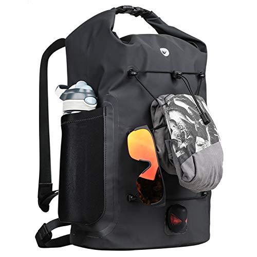 Asvert Wasserdichter Fahrradrucksack 35L Messenger Backpack Unisex Wasserdichter Rucksack Messenger Backpack Sehr gut geeignet zum Rafting, Klettern, Radfahren, Pendeln, Camping(Schwarz)