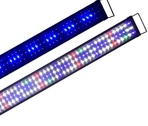 Boomersun Klassik vollspektrum LED5730 Aquarium Beleuchtung Lampe mit Mondlicht Tageslichtsimulation Lampe Reef Coral Fish Wasserpflanzen Süß-/Meerwasser Aquarien 90-120cm