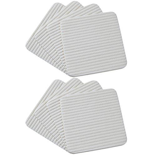 TOPBATHY 8 Stück Teppich Patches Vlies Anti-Rutsch-Kleber Decke Bereich Teppich Aufkleber Fixierbänder für Wohnzimmer Schlafzimmer