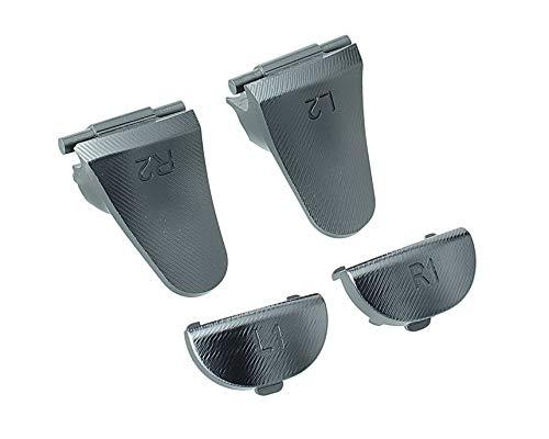Supremery Playstation 4 Slim Pro Dualshock 4 Trigger Tasten Sticks Set aus Aluminium L1 L2 + R1 R2 Buttons Schultertasten Ersatzteile Zubehör für PS4 - schwarz
