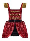 Freebily Disfraz Maestro para Niñas Disfraz Circo Ceremonias Boda Traje Costume Lentejuelas para Fiesta Halloween Carnaval Infántil 6 Meses a 4 Años Rojo 6-12 Meses